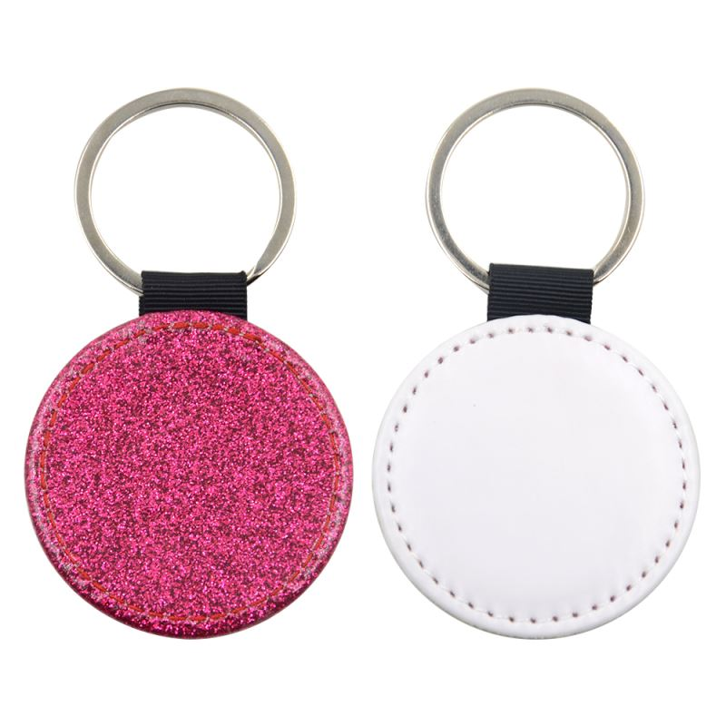 pu glitter keychain