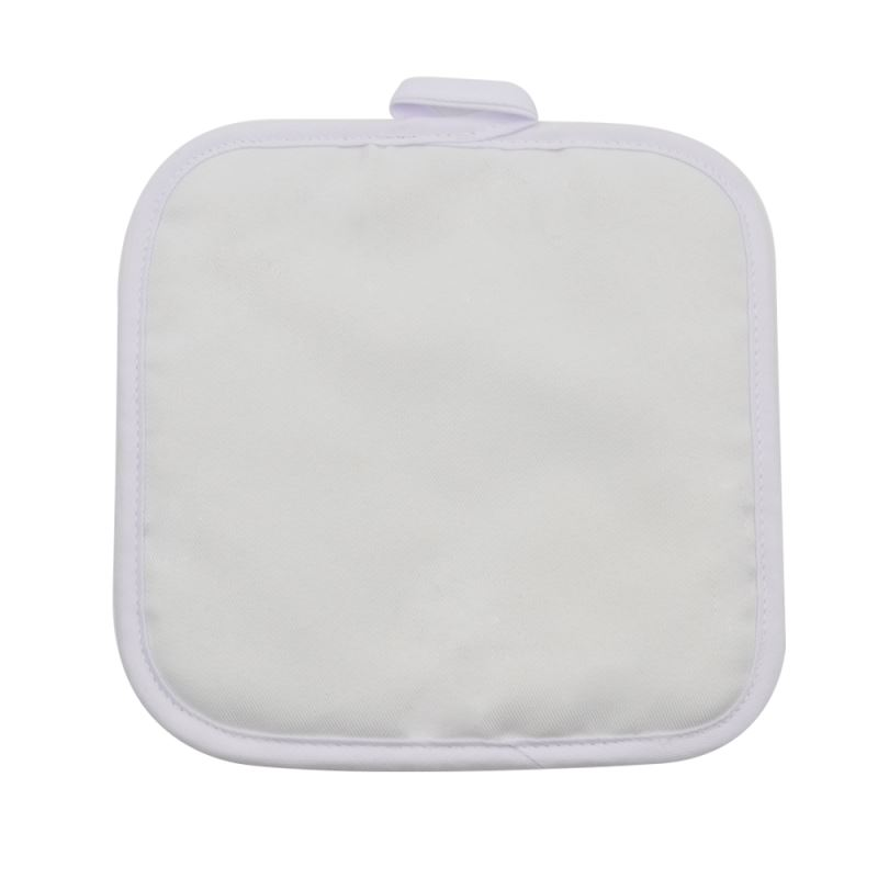 White Canvas Pot Holder