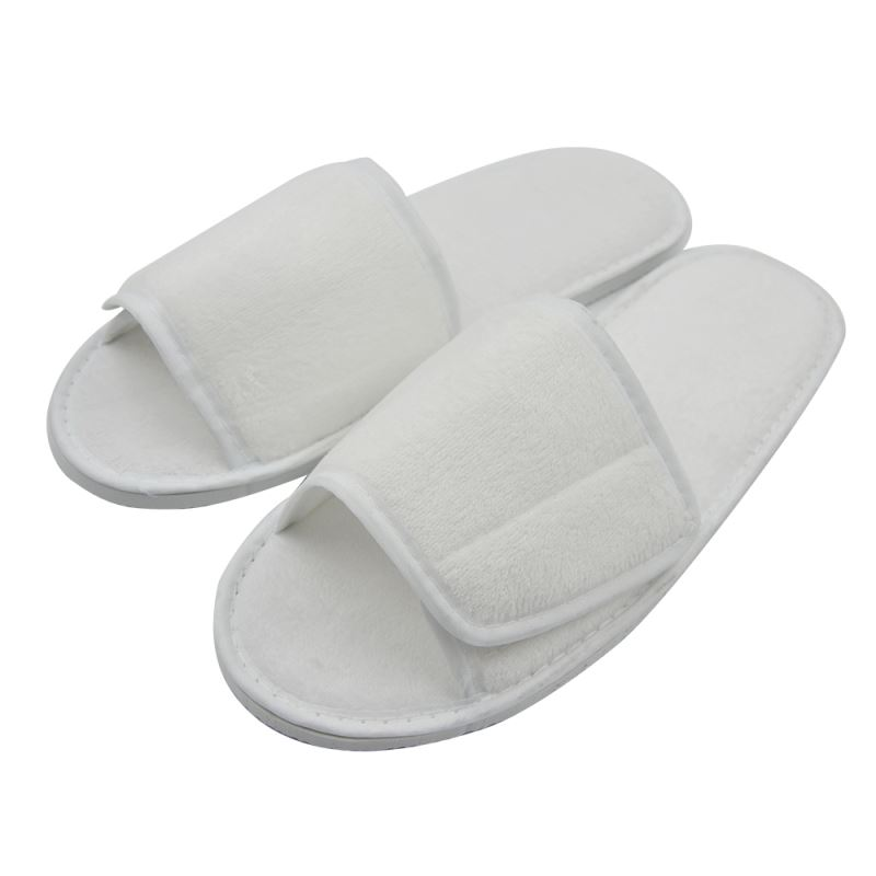 Fabric Slipper With Adjustable Velcro
