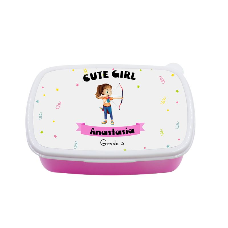 Kids Plastic Lunch Box - Pink&Blue