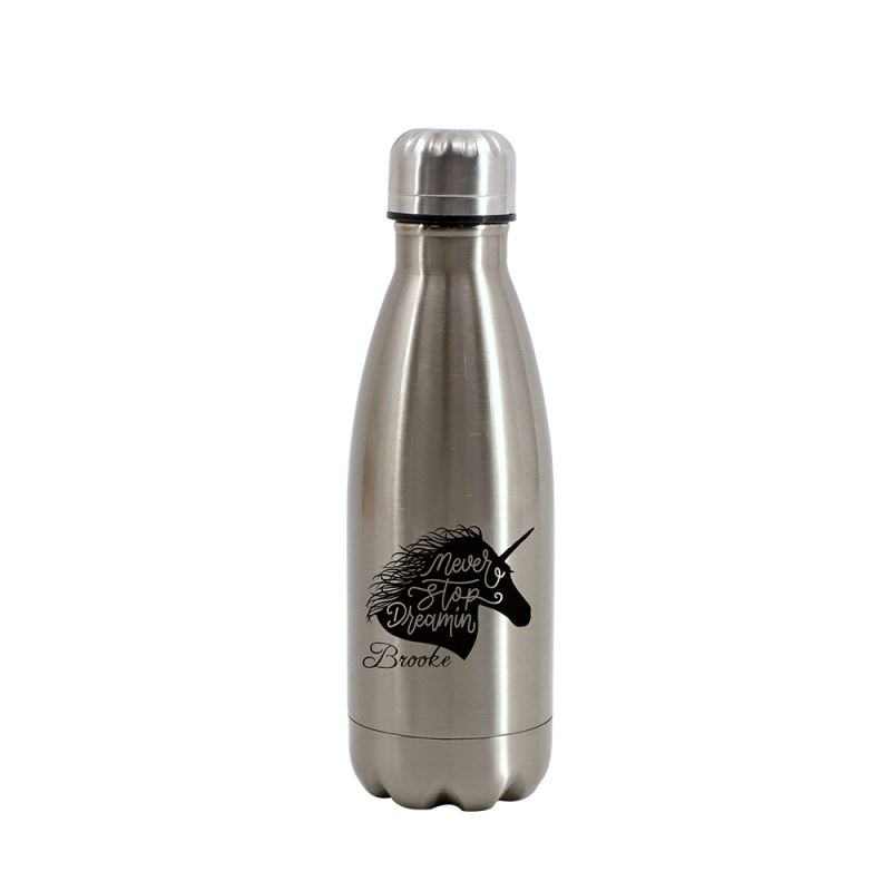 Cola Shape Stainless Steel Bottle-Silver