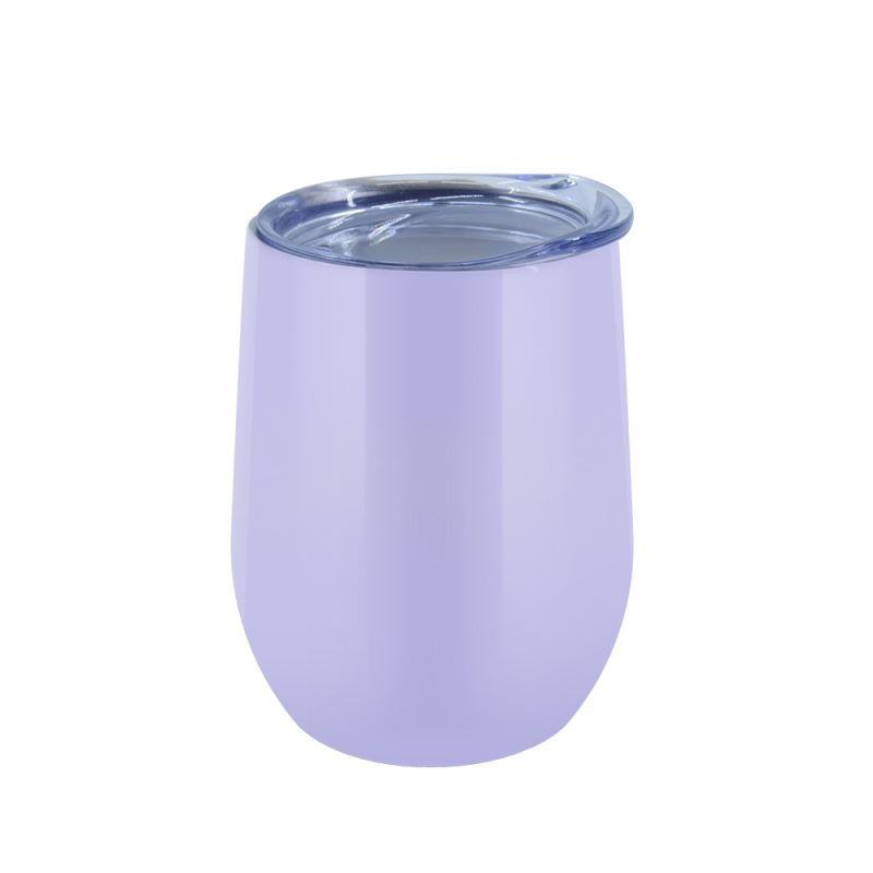 12OZ Stemless Stainless steel Cup  Glossy - Purple