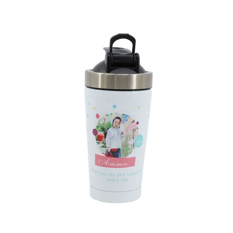 500ml Magic Mix Stainless Steel Bottle-White-Double wall