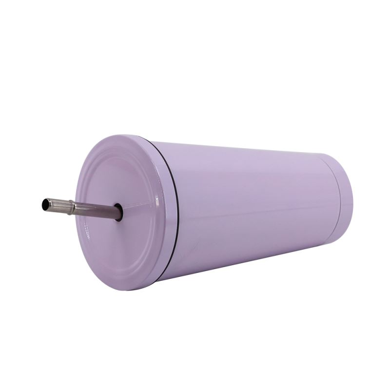 sublimation stainless steel tumbler with straw