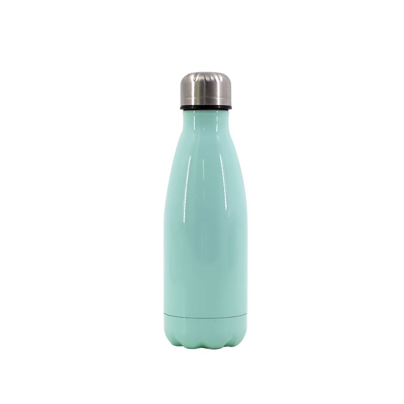 Cola Shape Stainless Steel Bottle-Green-Glossy