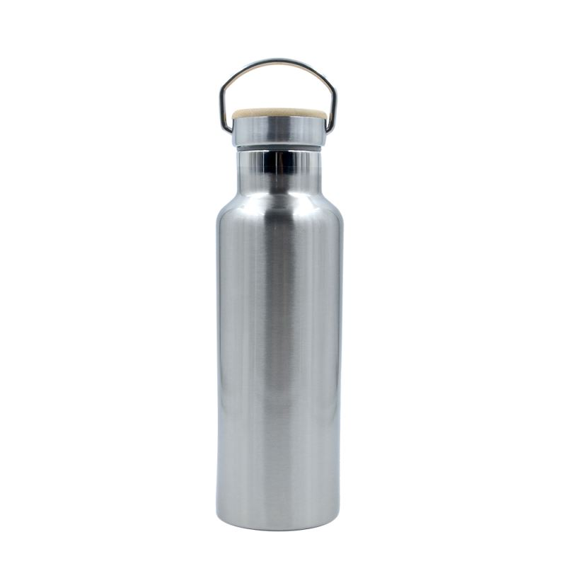 Portable Stainless Steel Bottle-600ml-Silver/White