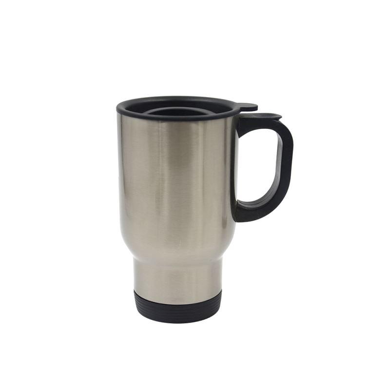 Stainless Steel Car Mug-Silver-201 Steel
