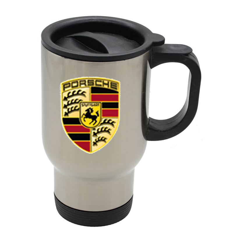 Stainless Steel Car Mug-Silver-201 Steel