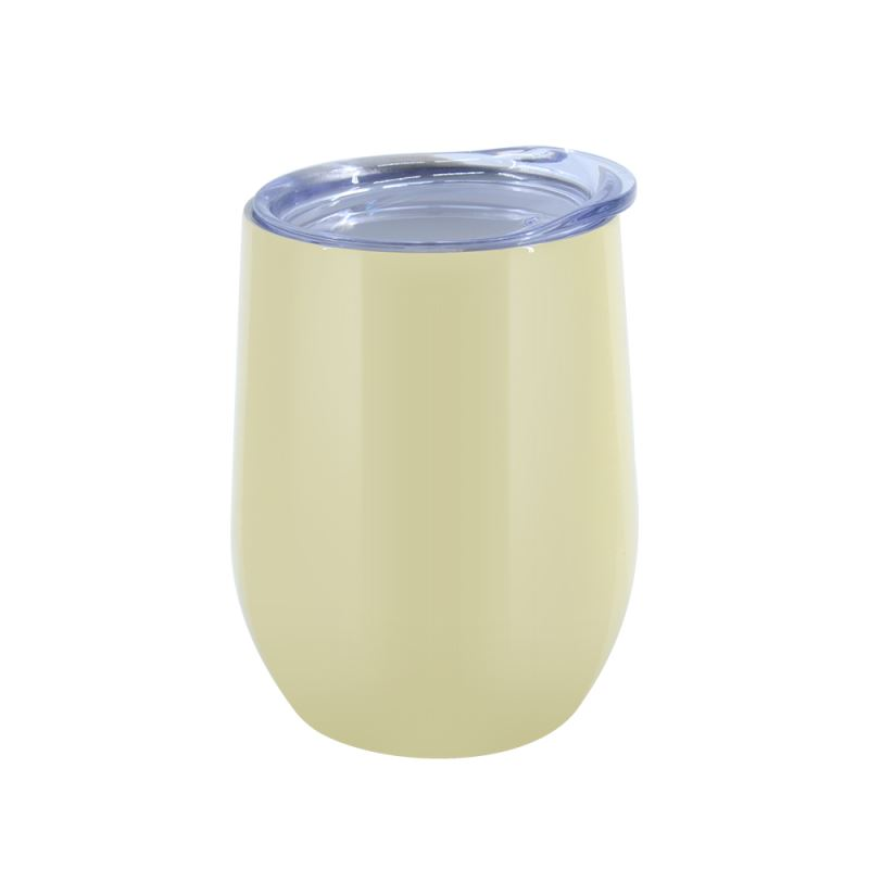 12OZ Stemless Stainless steel Cup  Glossy- Yellow