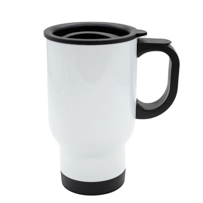 Stainless Steel Car Mug-White-201 Steel
