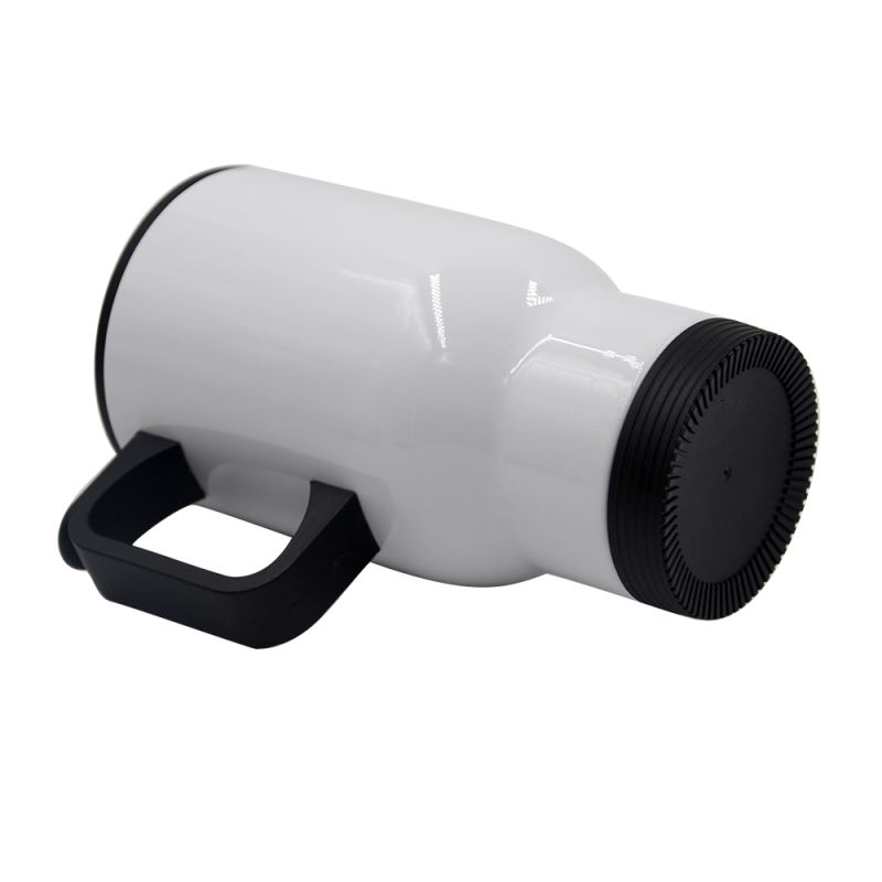 Stainless Steel Car Mug-White-201 Steel