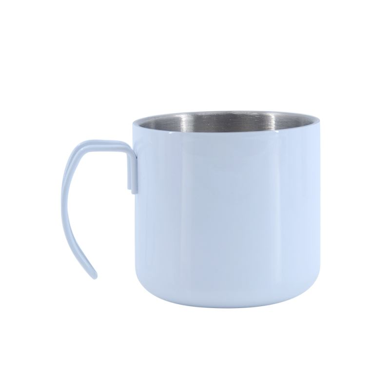 400ML Stainless Steel Cup-White Glossy