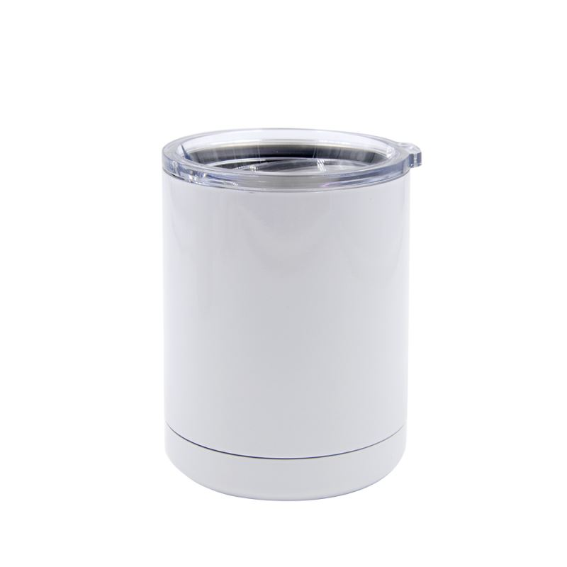 10 OZ Stainless Steel Vacuum Cup-White