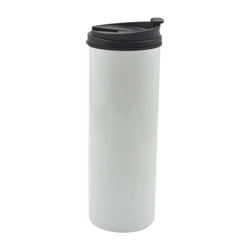500ML Stainless Steel Straight cup - White