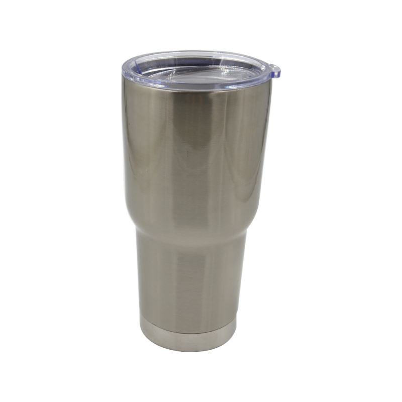 30OZ Stainless Steel Vacuum Travel Tumbler-Silver