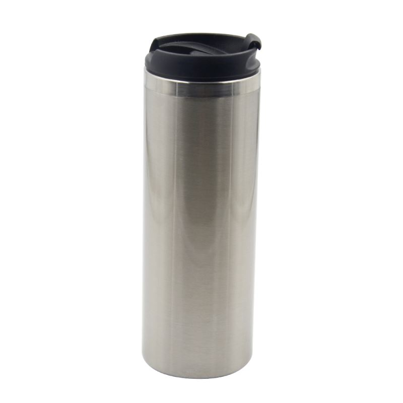 500ML Stainless Steel Straight Cup-Silver