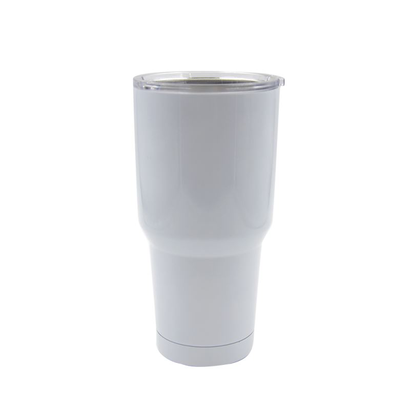 20 OZ Stainless Steel Vacuum Travel Tumbler - White