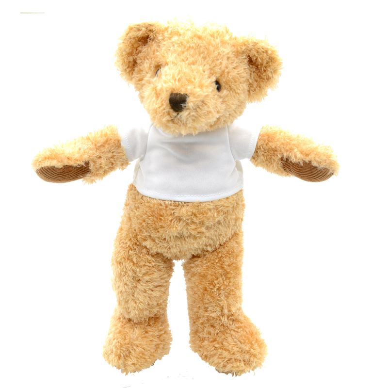 sublimation white teddy bear with T-shirt,