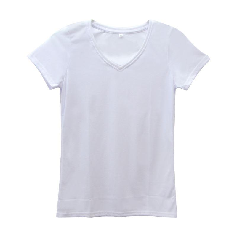 Polycotton T-shirt 210G -V-Neck-Women