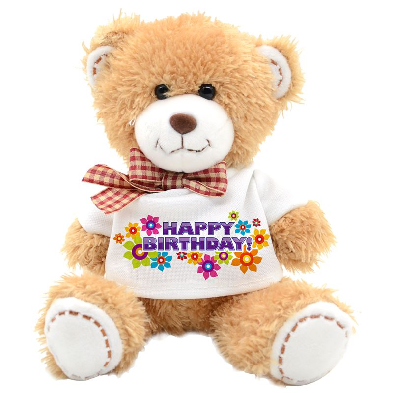 Sublimation Teddy bear with T-shirt 18cm  light Brown