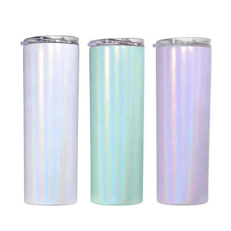 20OZ Sublimation Stainless Steel Rainbow Sparkle Bottle
