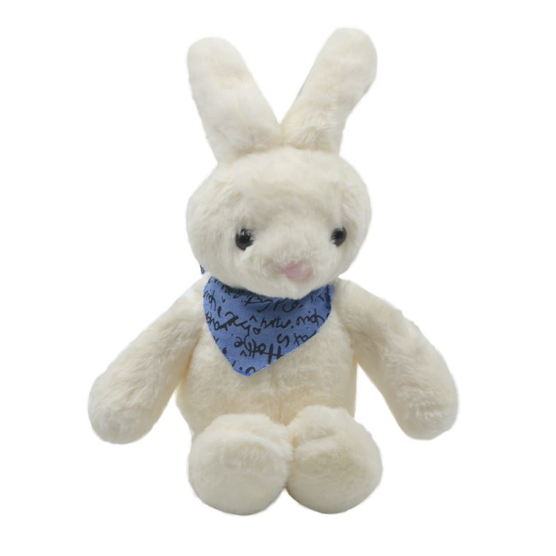Rabbit With T-shirt-White-23CM