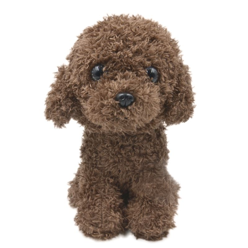 Poodle With T-shirt-Dark Brown-18CM