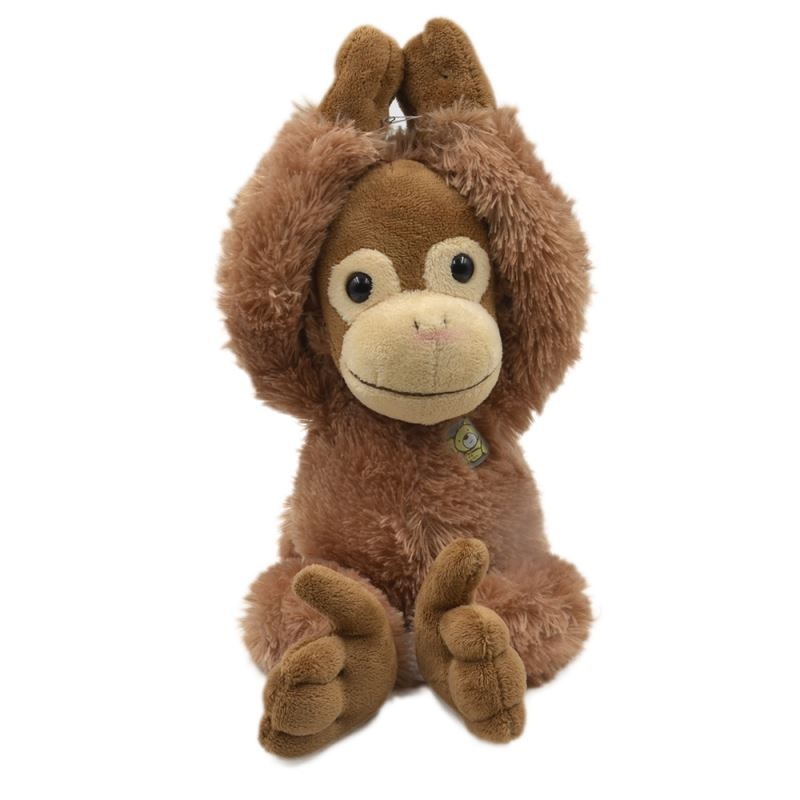 Monkey With T-shirt-Dark Brown
