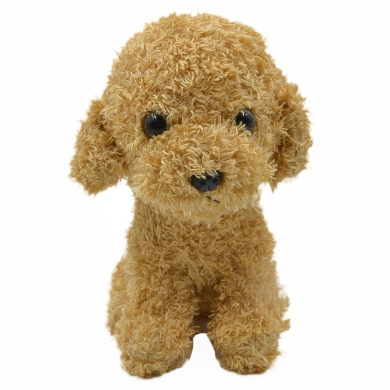 Poodle With T-shirt-Light Brown-18CM