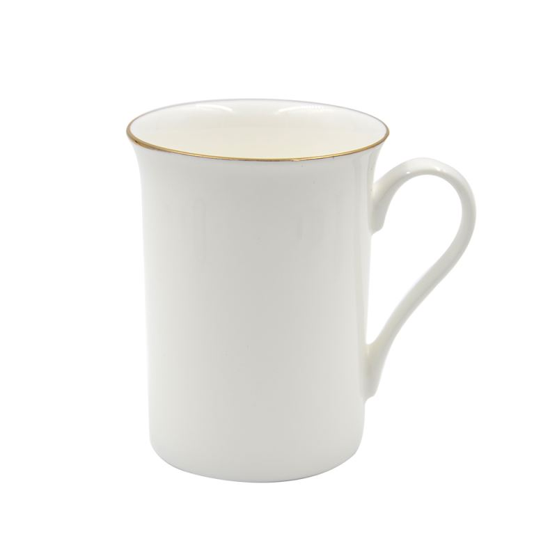 10oz Bone China Mug With Golden Rim