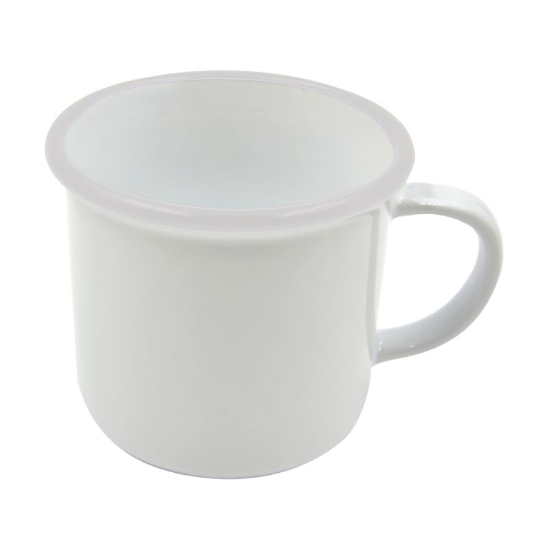 8 oz. Ceramic Camper Mug-white rim