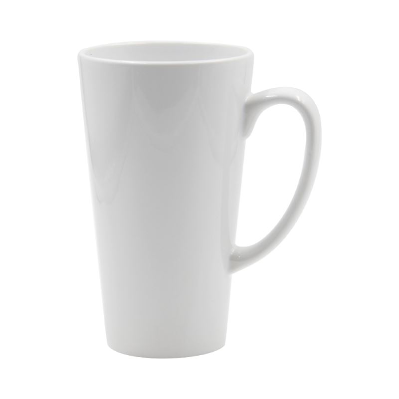 17oz Latte White Mug
