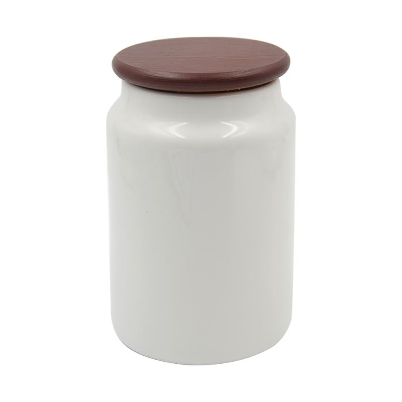 Cookie Jar With Wood Cover