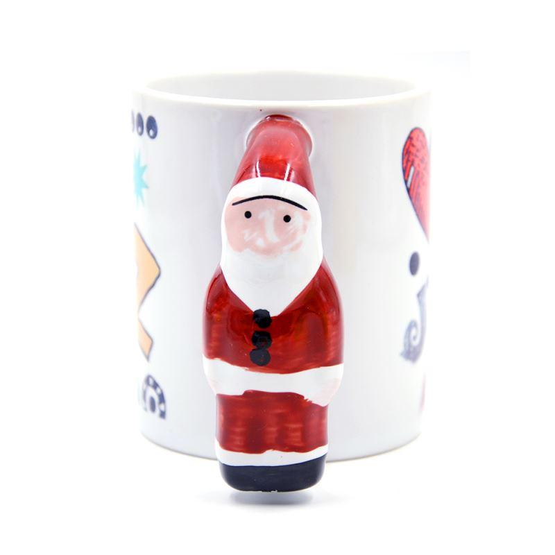 11oz St.Claus Handle Mug