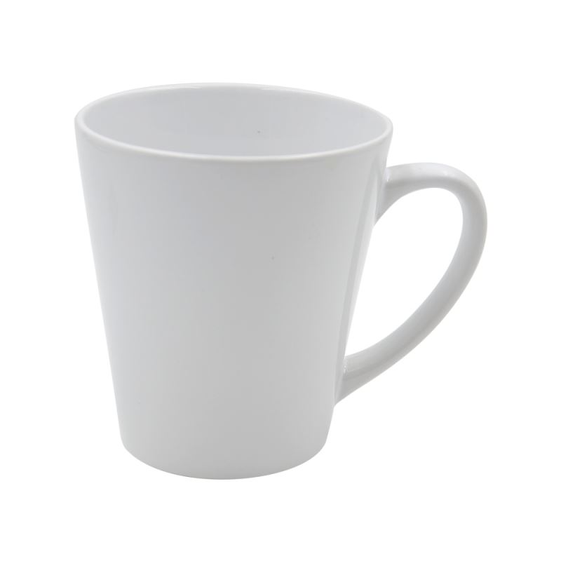 12oz Latte White Mug