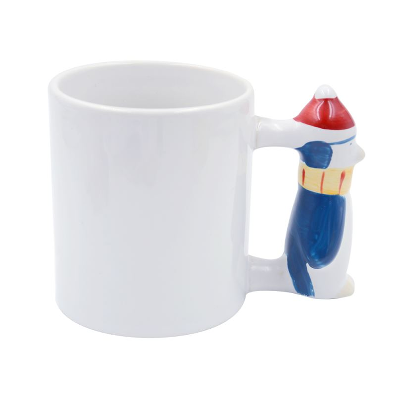 11oz Penguin Handle Mug