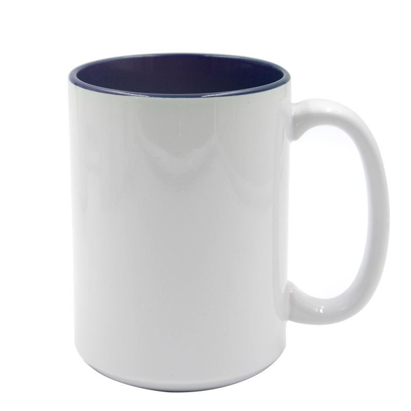 15oz Two Tone Color Mug-Dark Blue