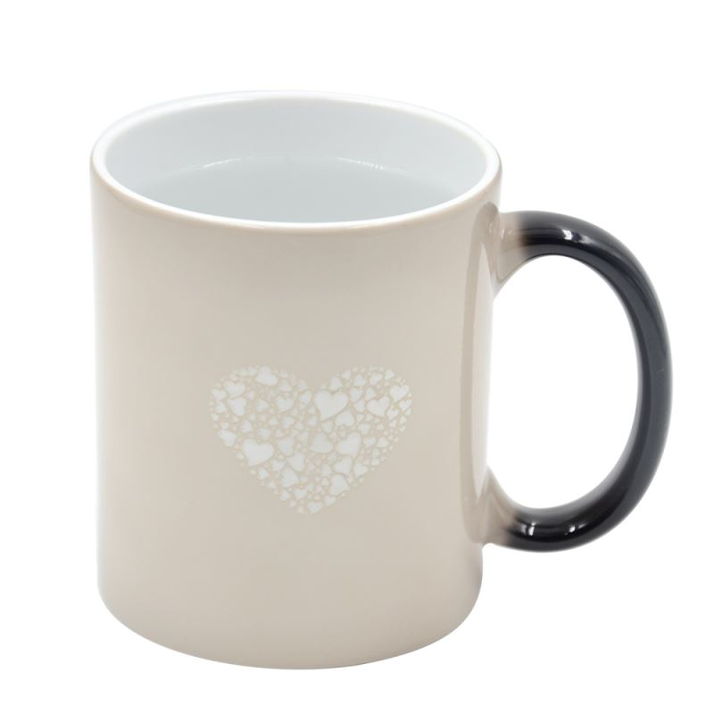 11OZ Full Color Change Mug with Heart(Glossy)