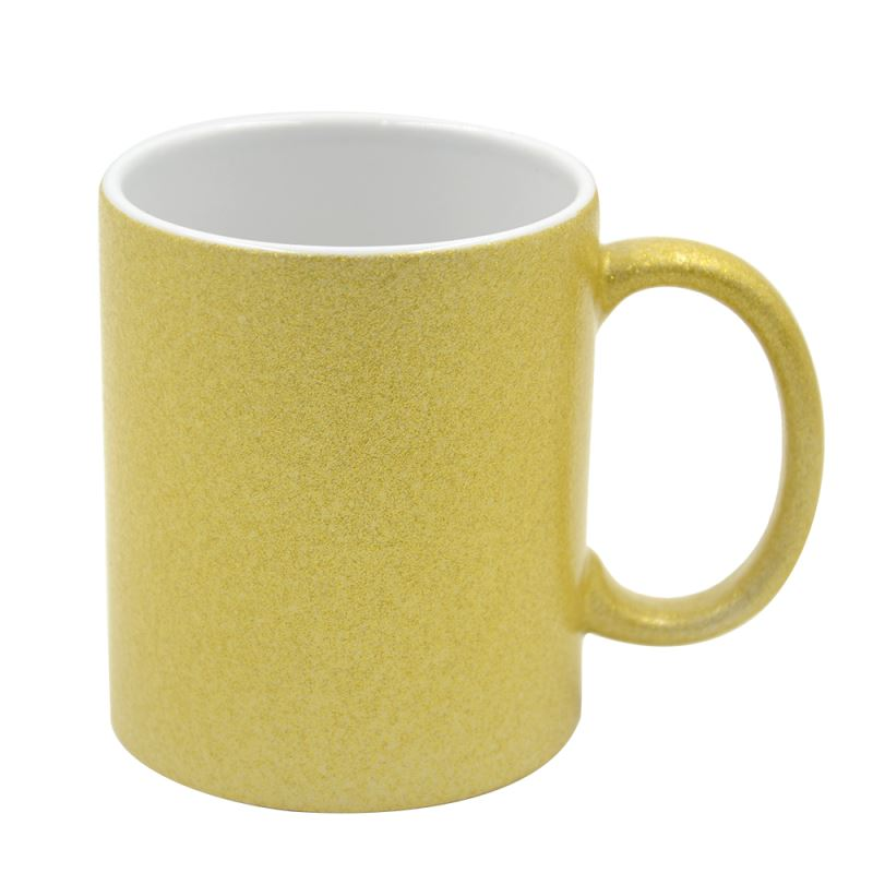 11oz Glitter Color Mug -Glod