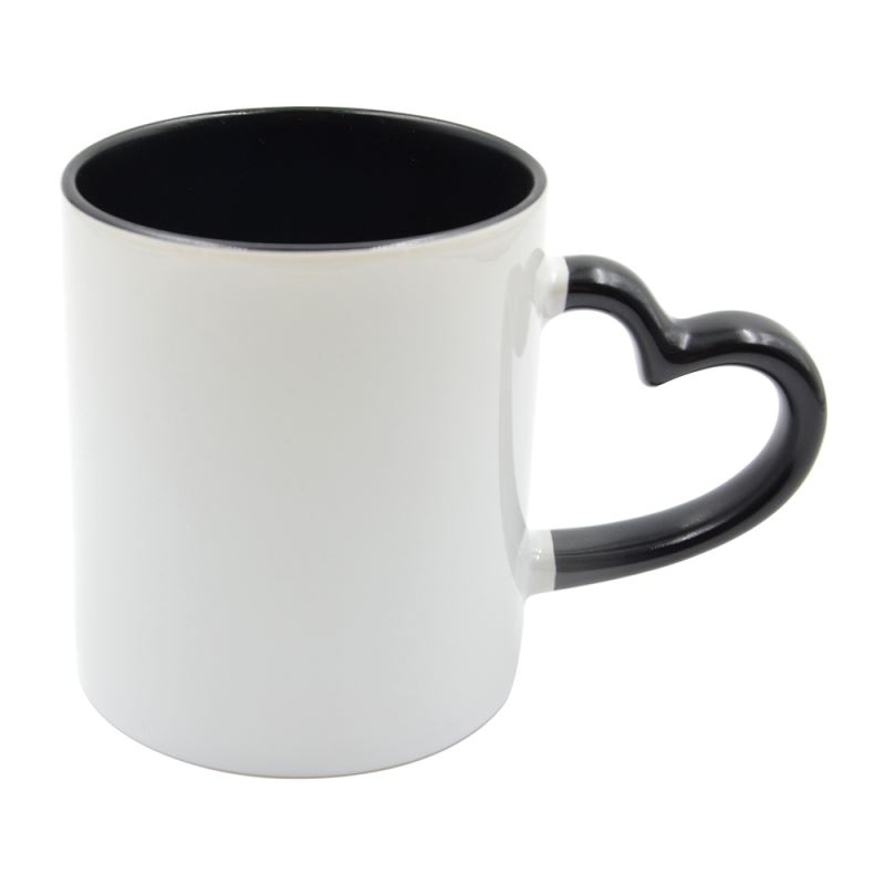 11oz Inner Color Mug With Heart Handle