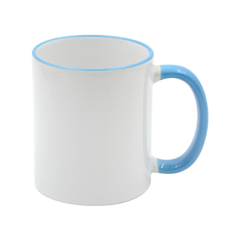 11oz Rim Handle Mug-Light Blue