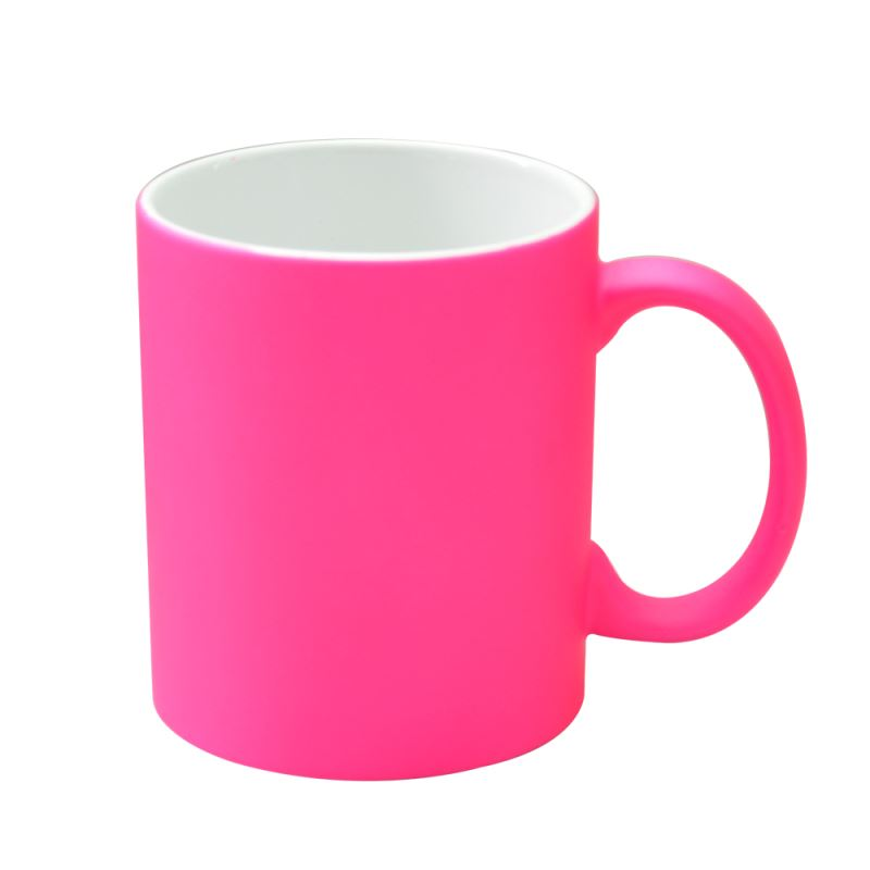 11oz Neon Color Mug Matt-Hot Pink