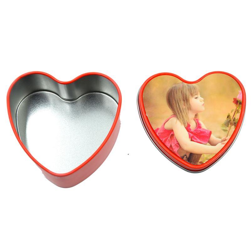 tin box with heart shape