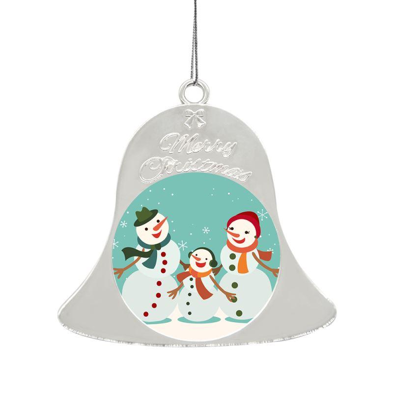 Metal Xmas Ornaments-Bell-Silver