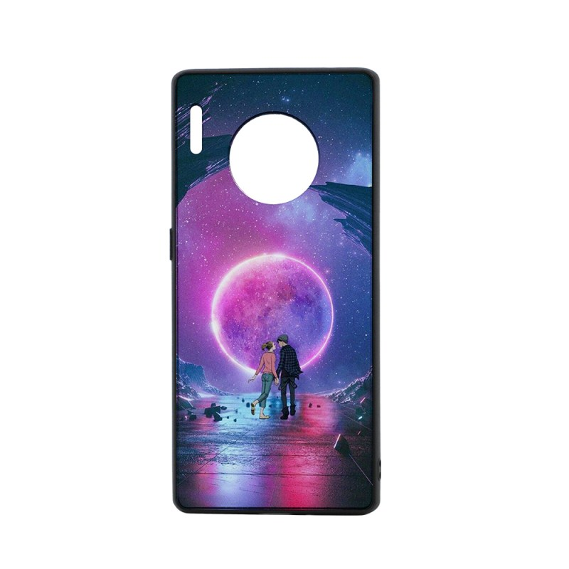 TPU Phone Case with Tempered Glass Insert for Huawei mate30 pro