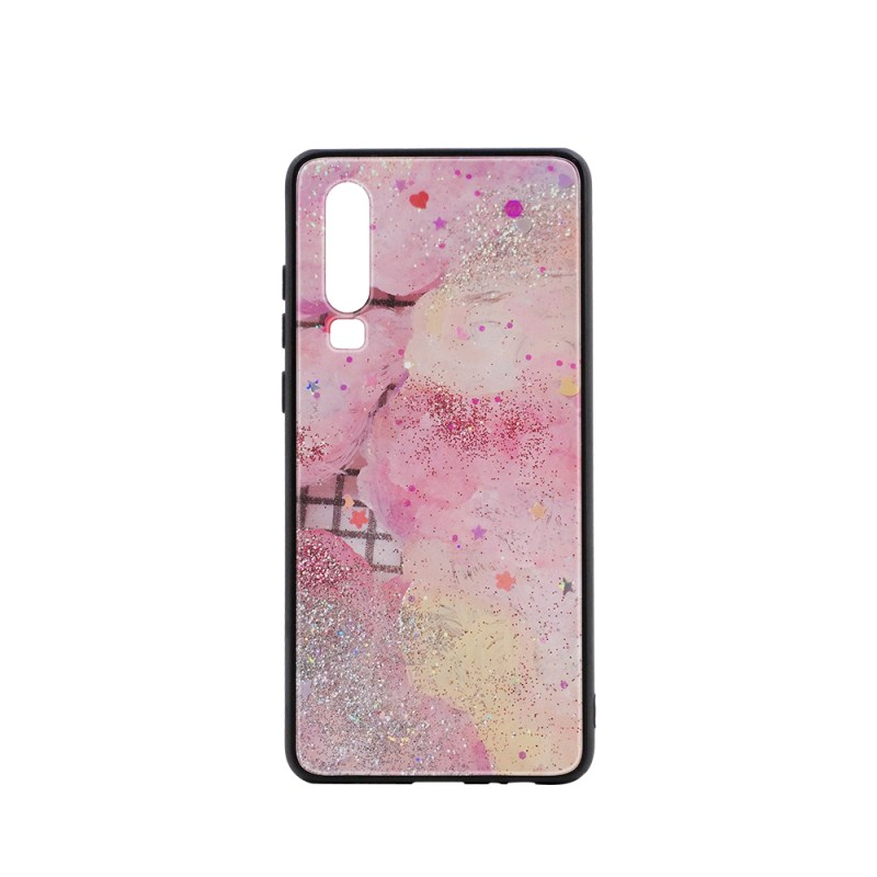TPU Phone Case with Tempered Glass Insert for Huawei P30