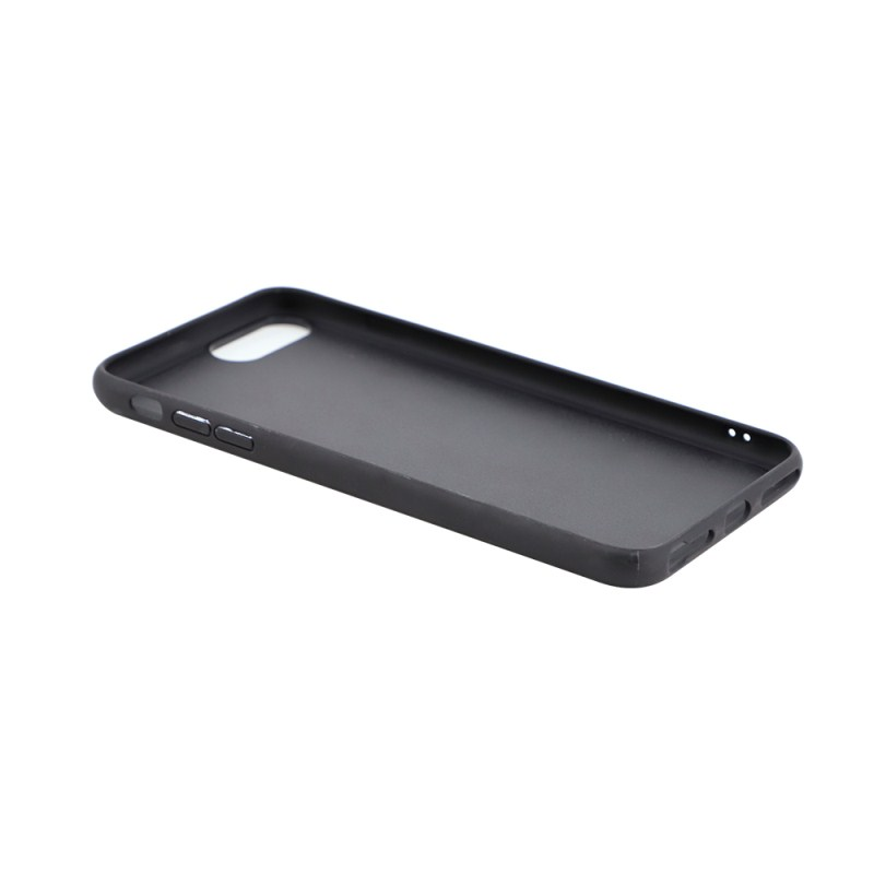 TPU Phone Case with Tempered Glass Insert for iPhone 6/7/8 Plus
