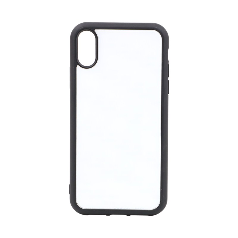 TPU Phone Case with Tempered Glass Insert for iPhone XR
