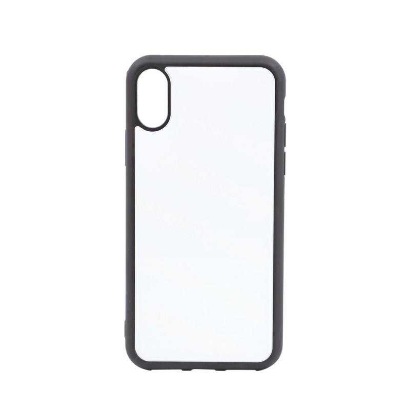 Blank Sublimation TPU Case with Glass Insert for Iphone XS