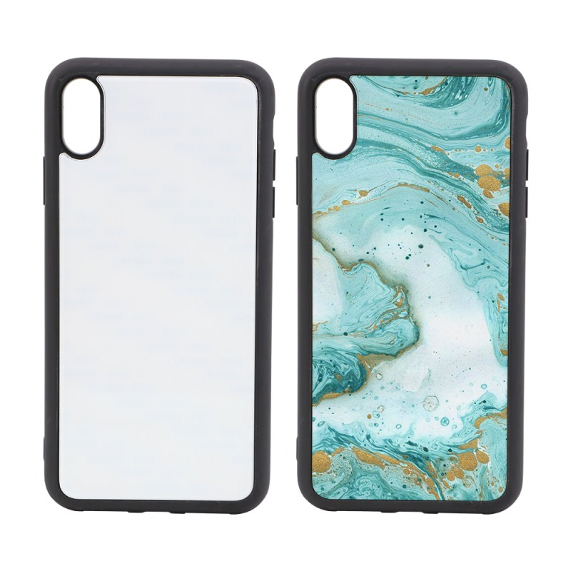 Blank Sublimation TPU Phone Case with Glass Insert for Iphone XS MAX
